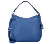 Adria Schultertasche Leder 34 cm blau