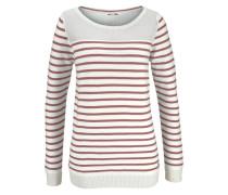 Streifenpullover »Striped Pullover« rot / weiß