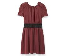 Kleid mit Seidenspitze rot