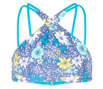 Top 'PW High Neck Bikini' himmelblau / gelb