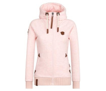 Sweatjacke 'Every World Knows It II' rosa