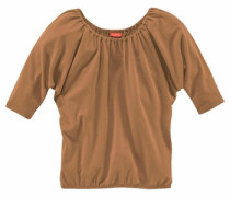 Shirt mit Fledermausärmeln für Mädchen beige