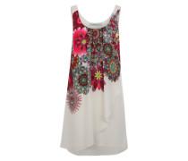 Kurzes Kleid 'Corvus' mischfarben / weiß