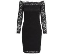 Kleid Langärmeliges Spitzen- schwarz
