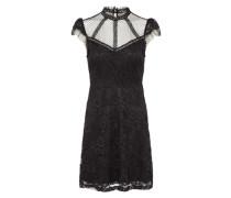 Kleid mit Spitzenbesatz schwarz