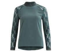 Feminine Spitzen-Bluse grün