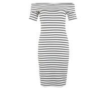 Off-Shoulder-Kleid schwarz / weiß