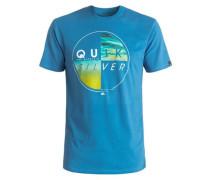 T-Shirt 'Classic Blazed' royalblau / gelb