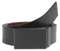 Ledergürtel mit Logo-Schnalle schwarz