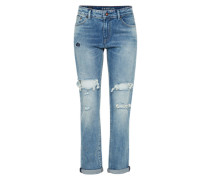 Regular-Jeans 'monroe LA' im Used-Look blue denim