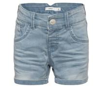 Jeansshorts nitbadora slim blau