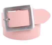 Ledergürtel mit edler Schließe rosa
