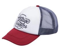 Snapback-Cap grau / rot / weiß