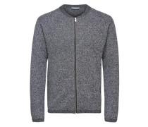 warmer Strick-Cardigan dunkelgrau / schwarz / weiß