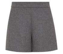 High-Waist-Shorts mit schrägen Taschen grau
