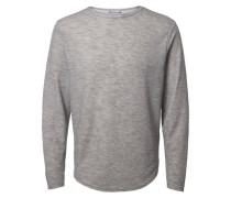 T-Shirt mit langen Ärmeln O-Ausschnitt grau