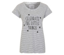 T-Shirt 'Liv Celebrate' weiß