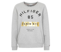 Sweater mit großem Aufdruck graumeliert