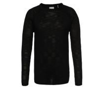 Pullover 'Mixed knit' schwarz