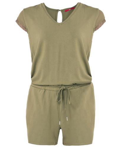 Jersey-Jumpsuit khaki