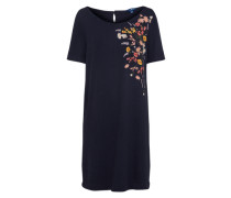 Kleid 'Solid Embroidery' blau