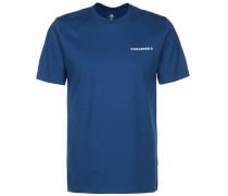 T-Shirt royalblau / weiß / orange