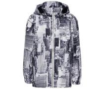 City-Jacke 'nitmellon' grau / schwarz / weiß
