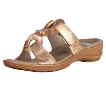 Pantoletten ocker / bronze / kupfer