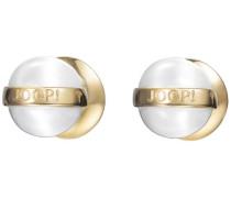 """Ohrstecker """"jp-T Pearl"""" gold / perlweiß"""