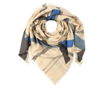 Halstuch mit Karo-Muster 'pcfraper' beige / blau