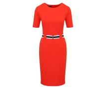 Jerseykleid orangerot