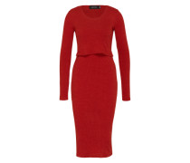 Maxikleid 'Cut Out Layered' rot