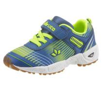 -Sneaker royalblau / neongrün
