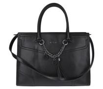 Handtasche mit dekorativer Kette schwarz