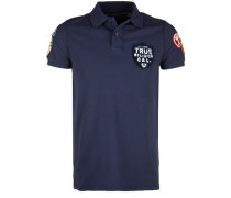 Poloshirt Polo Patches blau