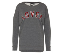 Sweatshirt 'Lover' grau