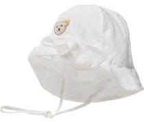 Baby Hut für Mädchen weiß