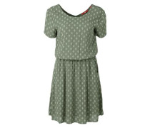 Blusenkleid mit Retro-Charme grasgrün