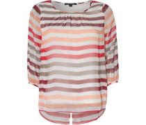 Bluse orange / rot / weiß
