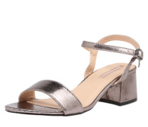 Sandalette im Metallic-Look bronze