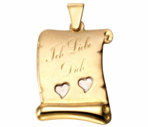 Kettenanhänger »Schriftrolle »Ich Liebe Dich««