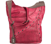 Handtasche braun / feuerrot