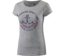 T-Shirt marine / grau / rot
