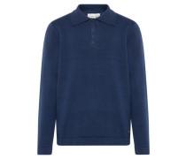 Poloshirt Strick blau