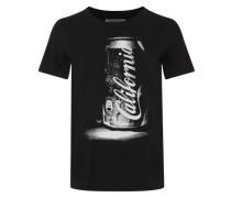 T-Shirt mit Frontprint schwarz