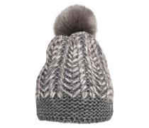 Mütze 'FancyKnit' grau