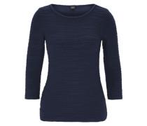 Stretch-Shirt mit Flecht-Detail blau