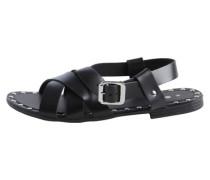 Sandalen Leder- schwarz