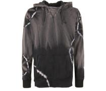 Hoody 'super Wide Batik' basaltgrau / schwarz