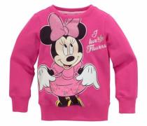 Sweatshirt mit Minnie Mouse Druckmotiv pink